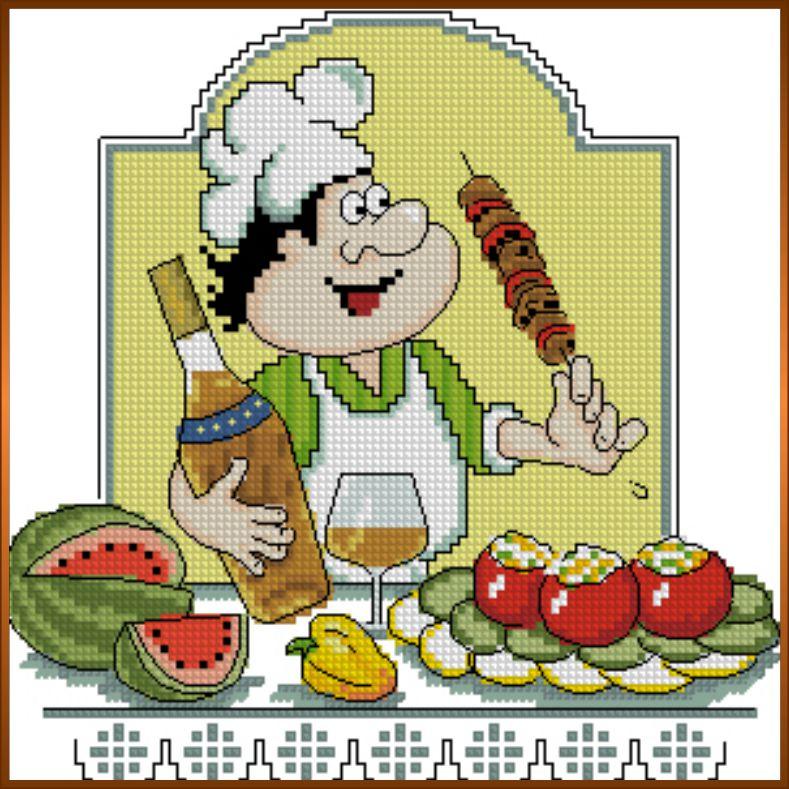 Кулинарный техникум вышивка крестом схемы